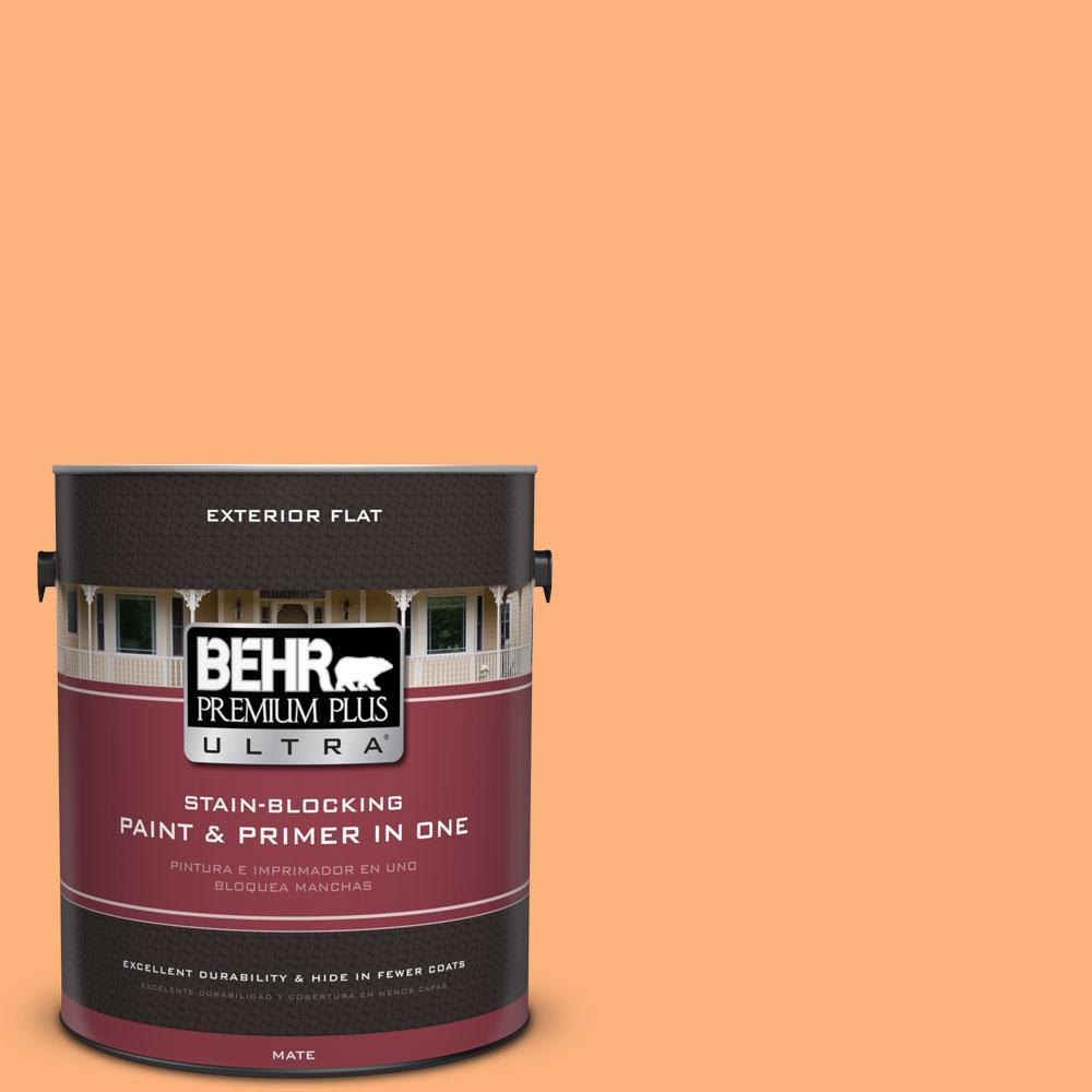 BEHR Premium Plus Ultra 1-gal. #P220-5 Fuzzy Peach Flat Exterior Paint