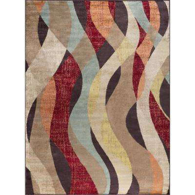 Deco Brown 8 ft. x 10 ft. Transitional Area Rug