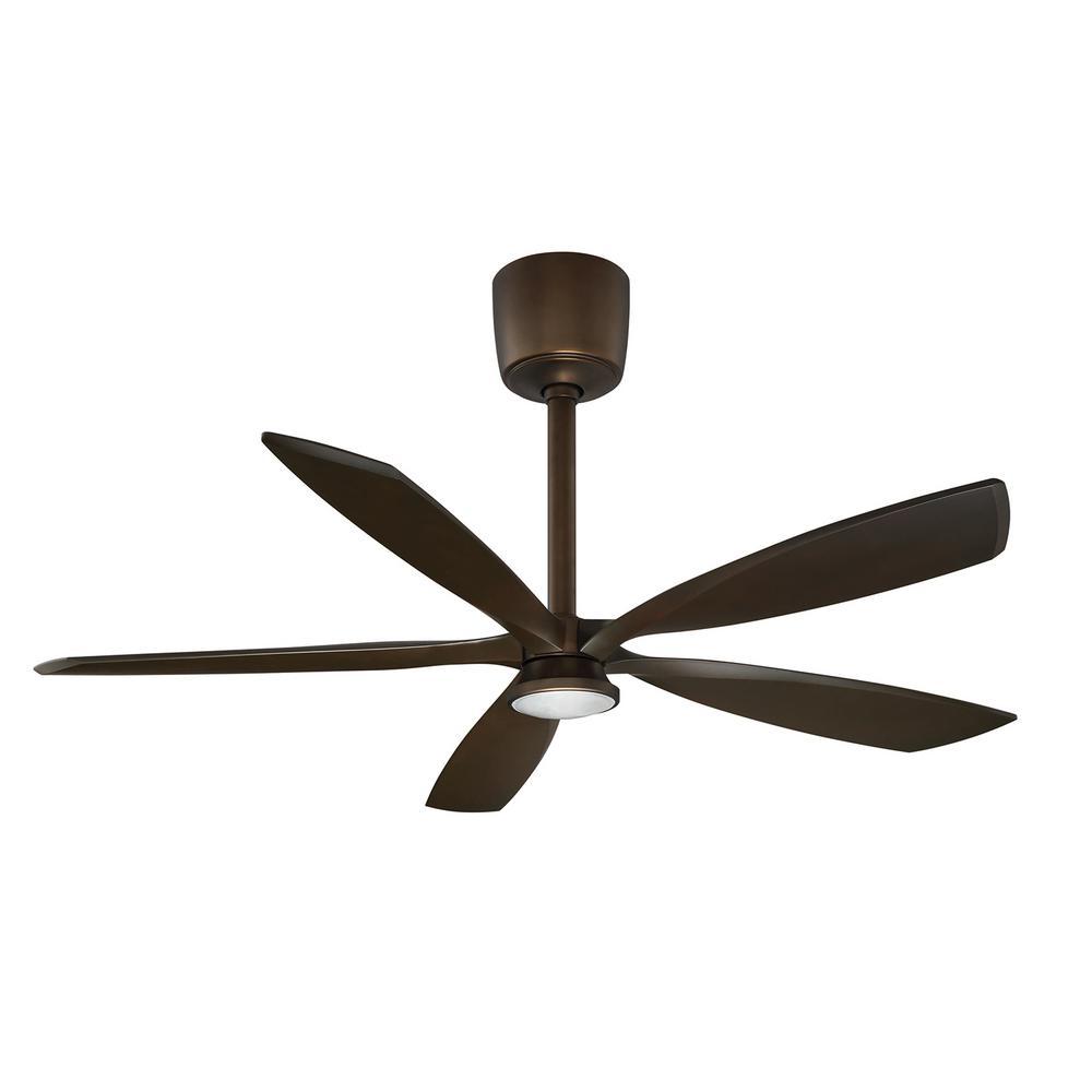 Shaft Driven Ceiling Fan : Westinghouse techno ii in led black dc motor ceiling