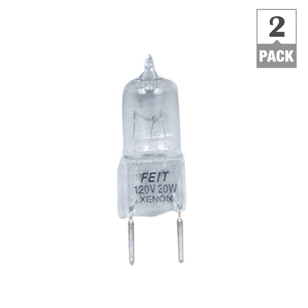 Feit Electric Xenon 20-Watt Halogen G8 Light Bulb (2-Pack)