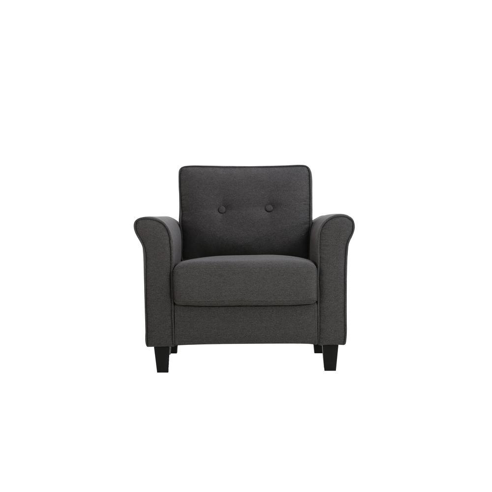 Lifestyle Solutions Hamburg Heather Grey Mid Century Modern Armchair