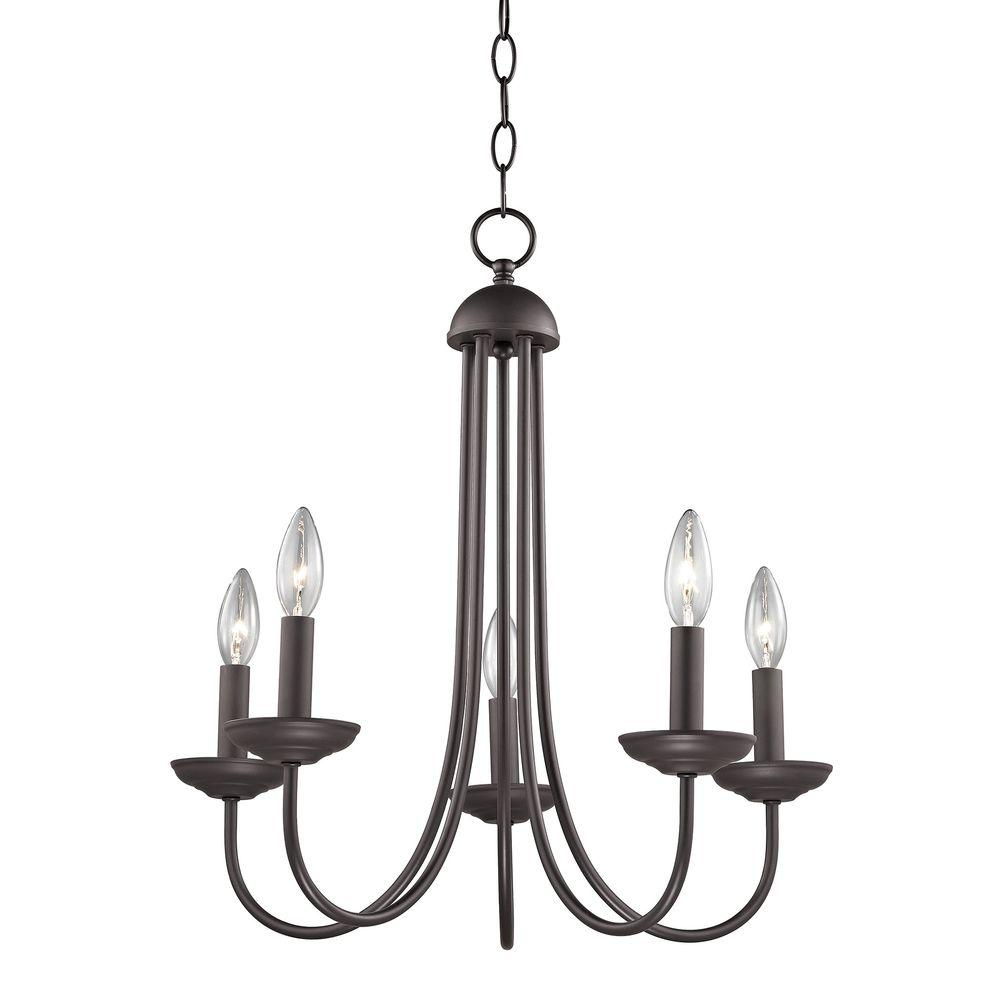 Titan lighting williamsport 5 light oil rubbed bronze chandelier