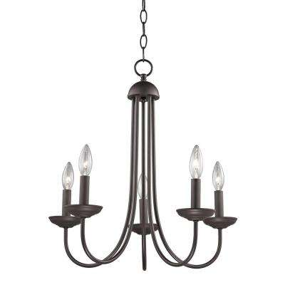 Williamsport 5-Light Oil-Rubbed Bronze Chandelier
