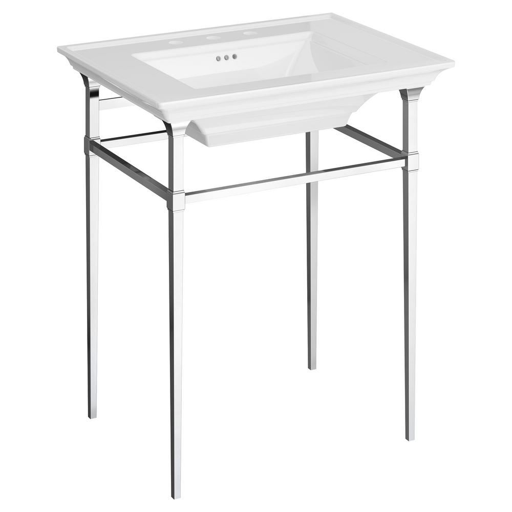Town Square S Pedestal Basin Console Legs In Chrome