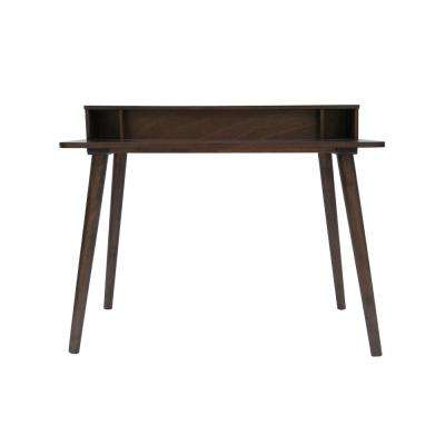 Elodie Mid-Century Modern Medium Brown Rubberwood Writing Desk