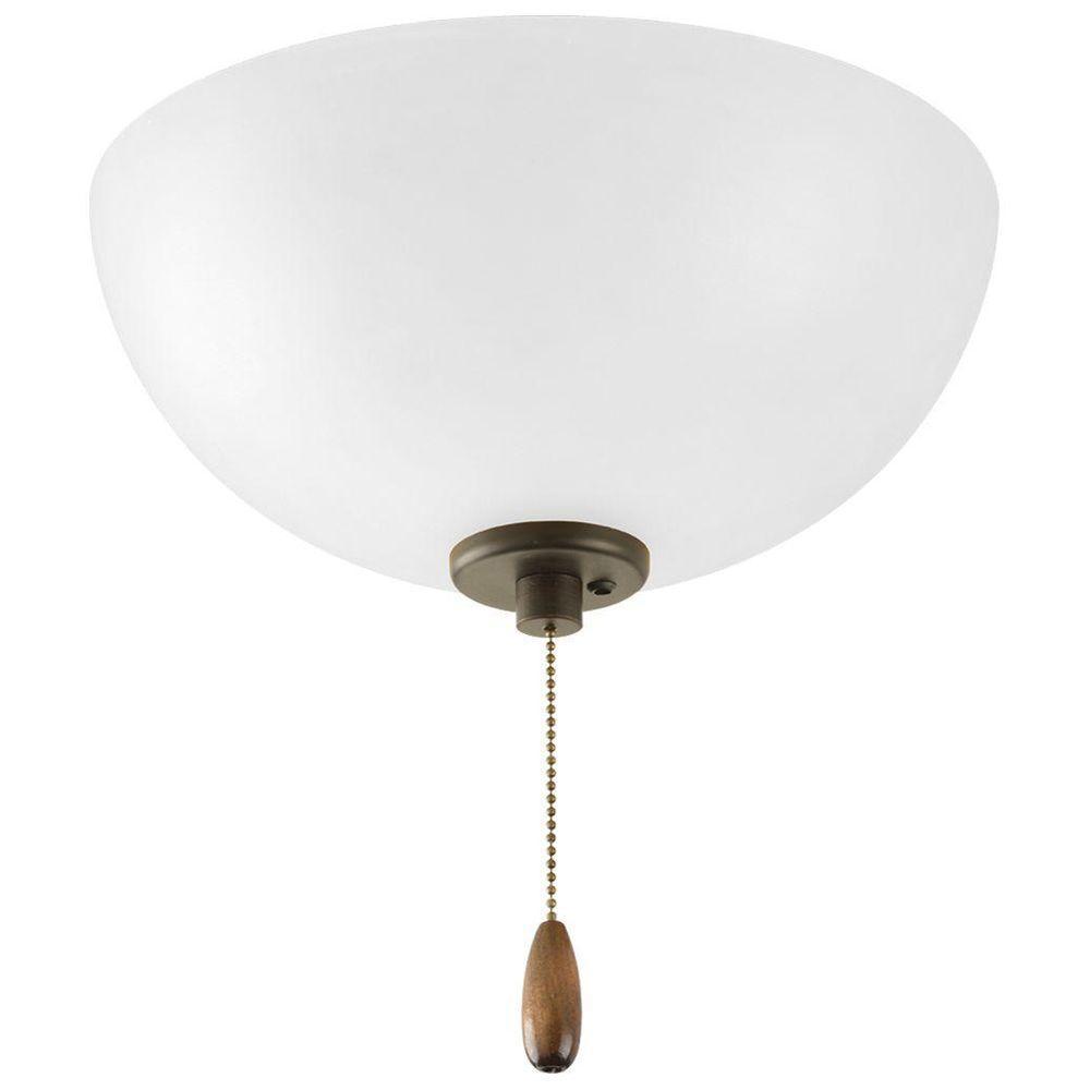 Gather Collection 3-Light Antique Bronze Ceiling Fan Light