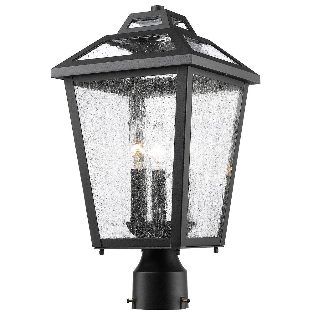 Wilkins 3-Light Outdoor Black Post Mount