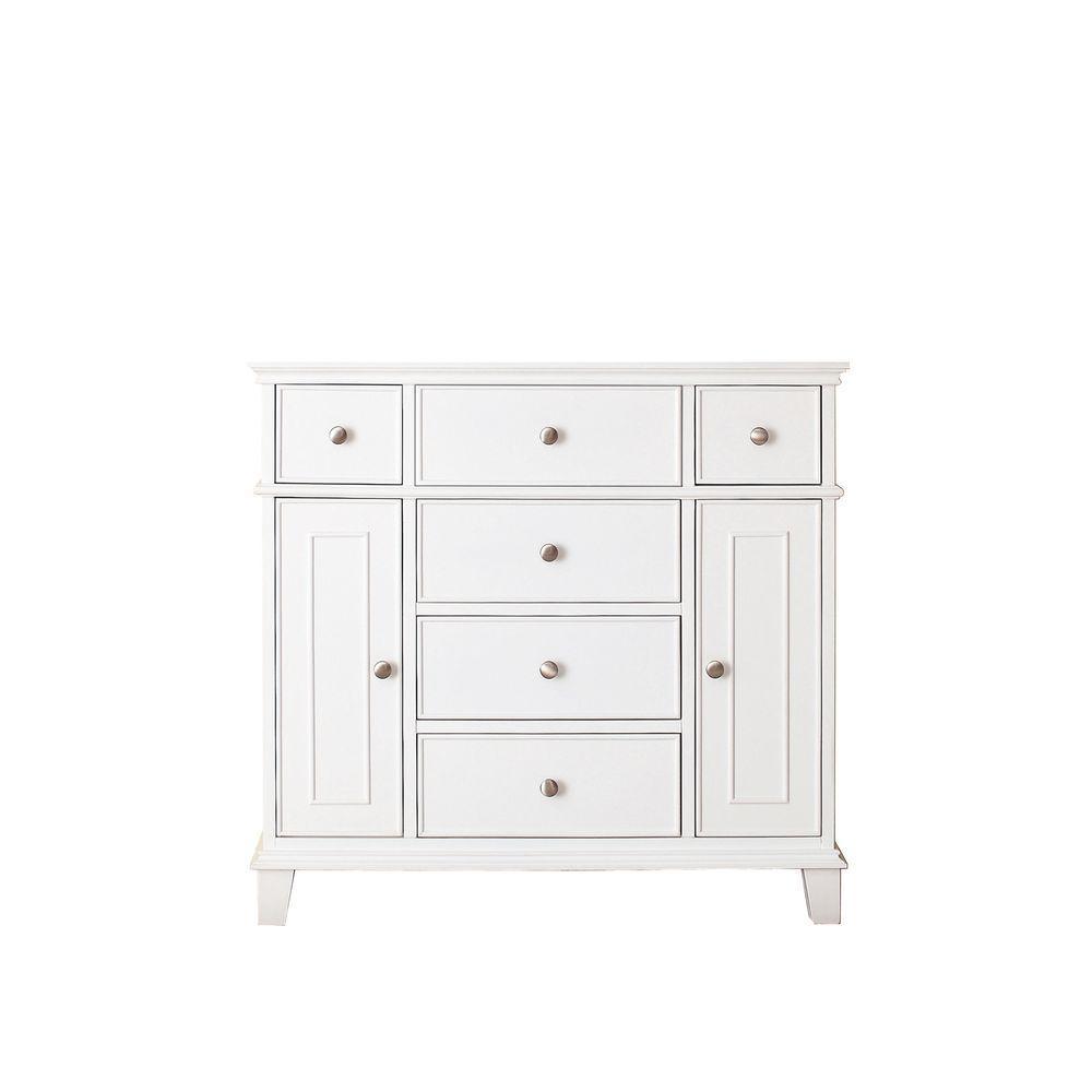 Windsor 36 in. W x 21.5 in. D x 34 in. H Vanity Cabinet in White