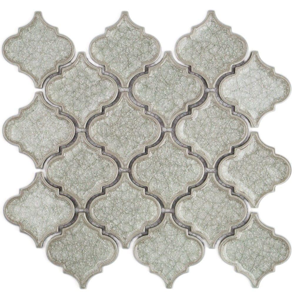Ivy Hill Tile Roman Selection Iced White Lantern Glass