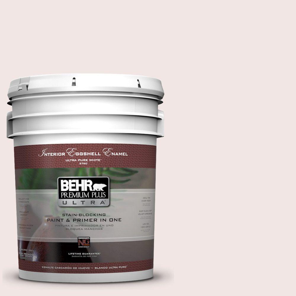 BEHR Premium Plus Ultra 5-gal. #PPL-43 Primrose Bouquet Eggshell Enamel Interior Paint