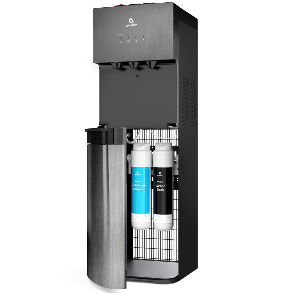 A5BLK Self Cleaning Bottleless Water Cooler Dispenser, UL/NSF/Energy Star, Black Stainless Steel