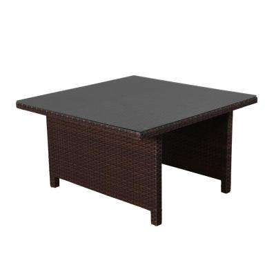 Atlantic Bellagio All-Weather Wicker Square Patio Dining Table