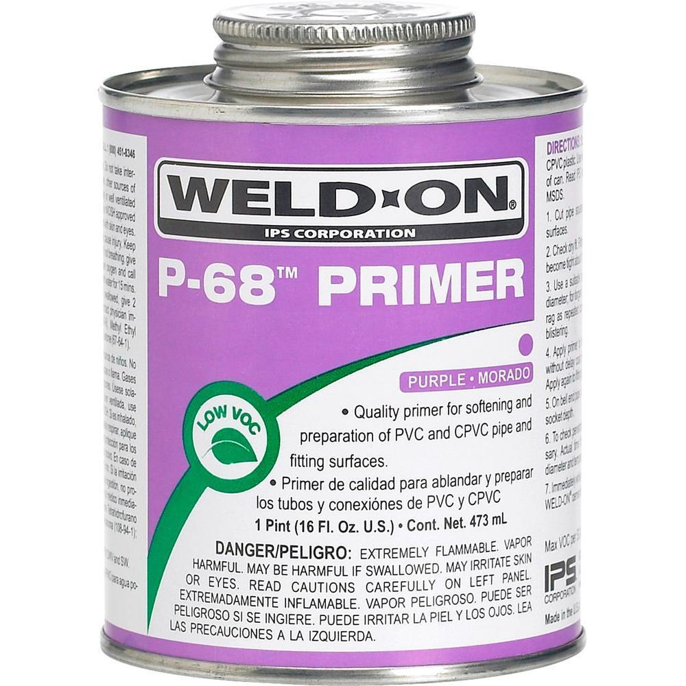 Weld-On 16 oz. PVC P-68 Primer in Purple