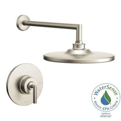 Arris Single-Handle 1-Spray Posi-Temp Eco-Performance Shower Faucet Trim Kit in Brushed Nickel (Valve Not Included)