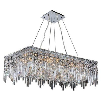 Cascade Collection 16 Light Crystal and Chrome Chandelier