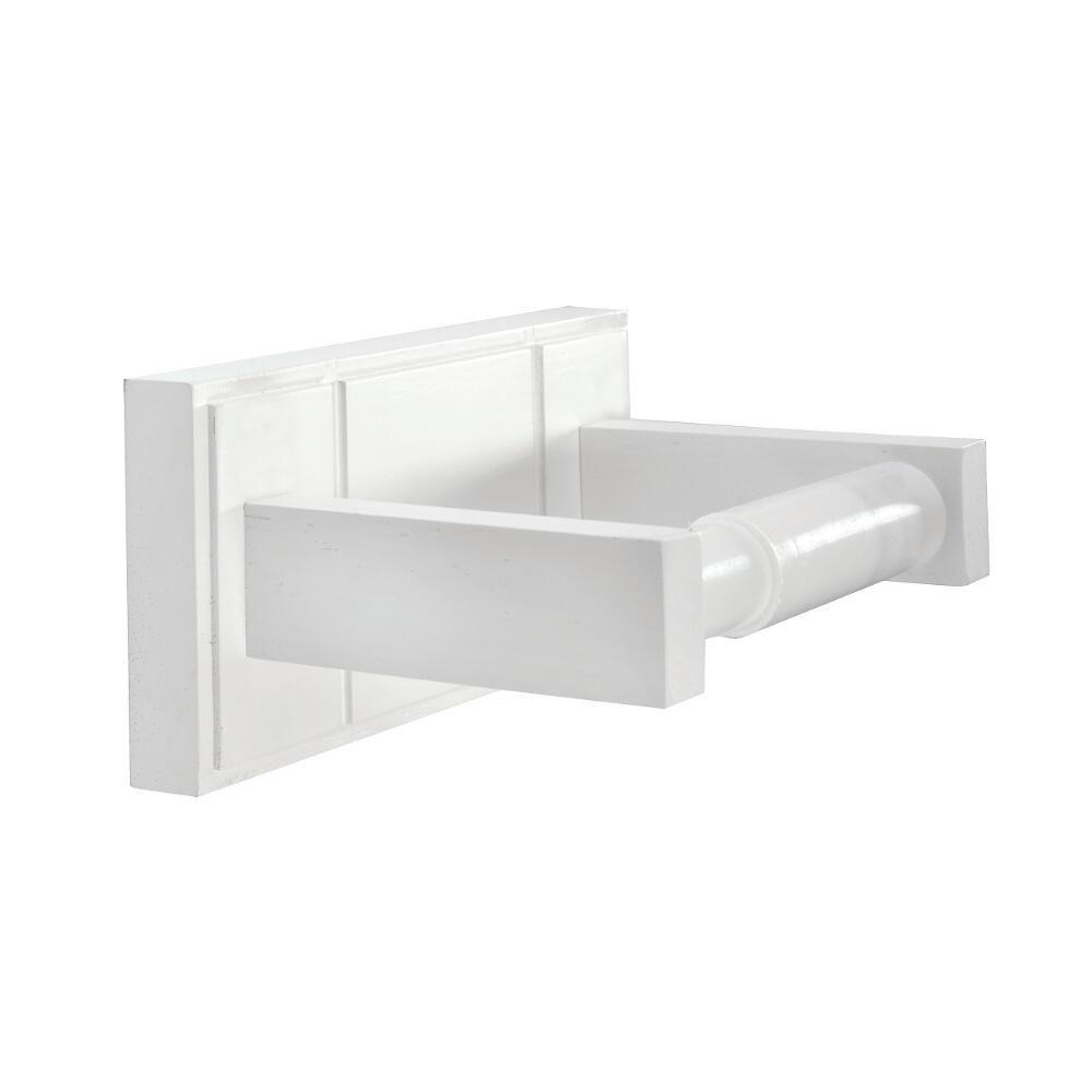 Croydex Maine Double Post Toilet Paper Holder In White Wood