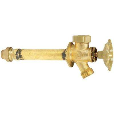 3/4 in. x 10 in. Brass Anti-Siphon Frost Free Sillcock Valve with Push-Fit Connections