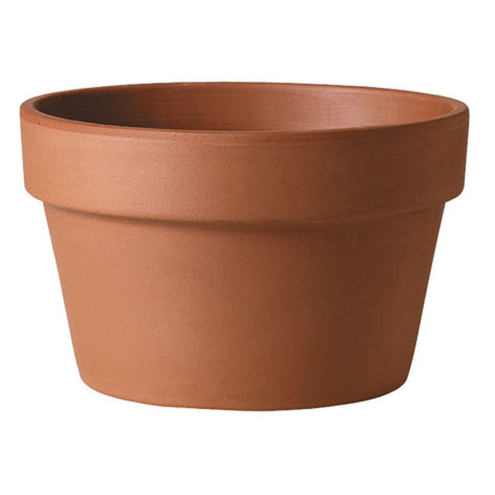 10 in. Terra Cotta Clay Azalea Pot
