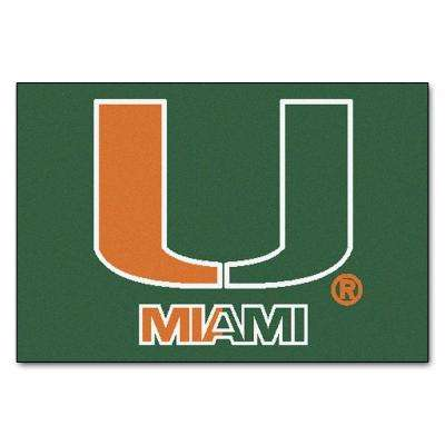 University of Miami 19 in. x 30 in. Accent Rug