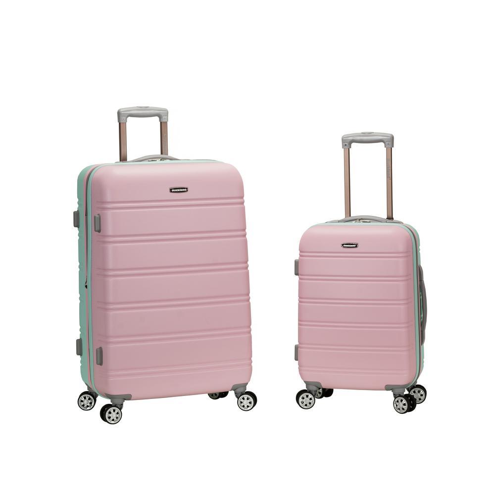 Rockland Melbourne Expandable 2-Piece Hardside Spinner Luggage Set, Mint