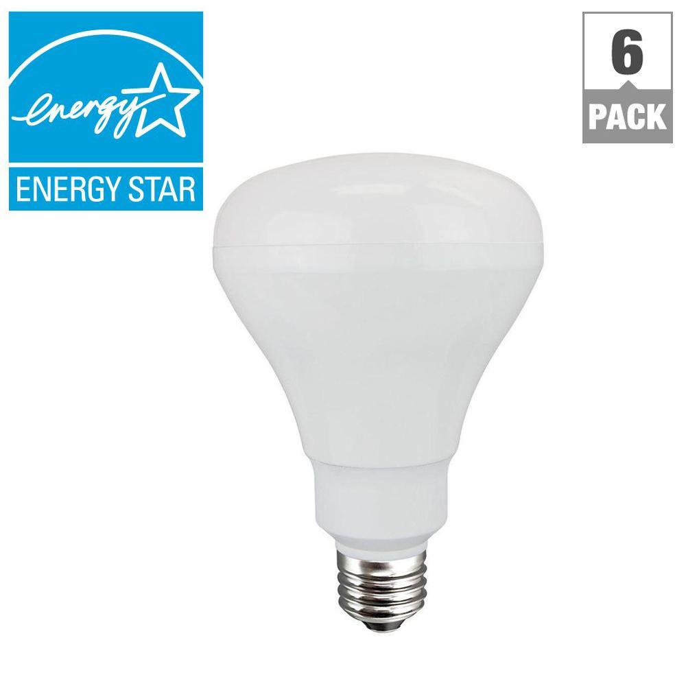 65W Equivalent Soft White (2700K) BR30 Non-dimmable LED Flood Light Bulb (6-Pack)