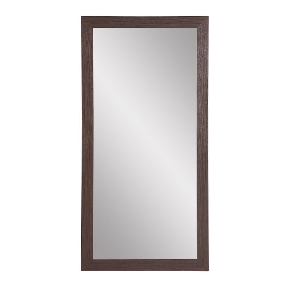 Oversized Dark Brown Composite Farmhouse Modern Southwestern Mirror (71 in. H X 32 in. W)