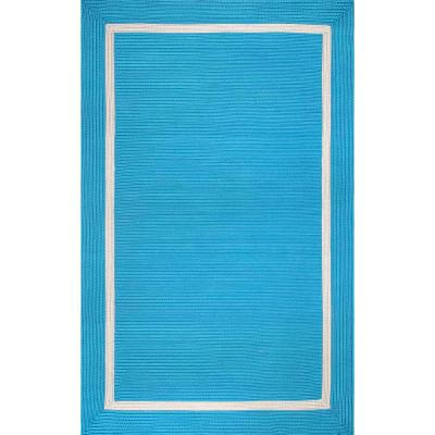 Gwenyth Geometric Blue 5 ft. x 8 ft.  Indoor/Outdoor Area Rug