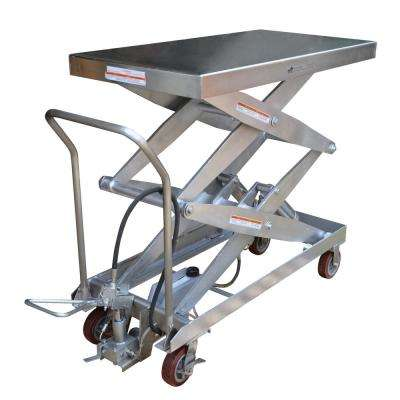 1500 lb. 24 x 54.5 in. Hydraulic Steel Cart