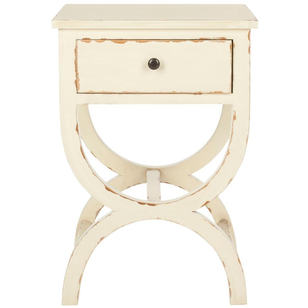 Safavieh Maxine Vintage Cream Storage End Table