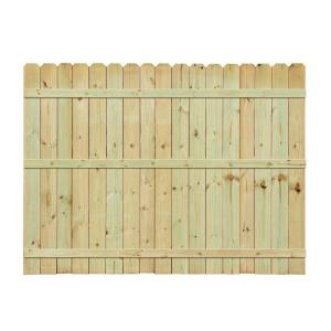 6 Ft H X 8 Ft W Pressure Treated Pine Dog Ear Fence