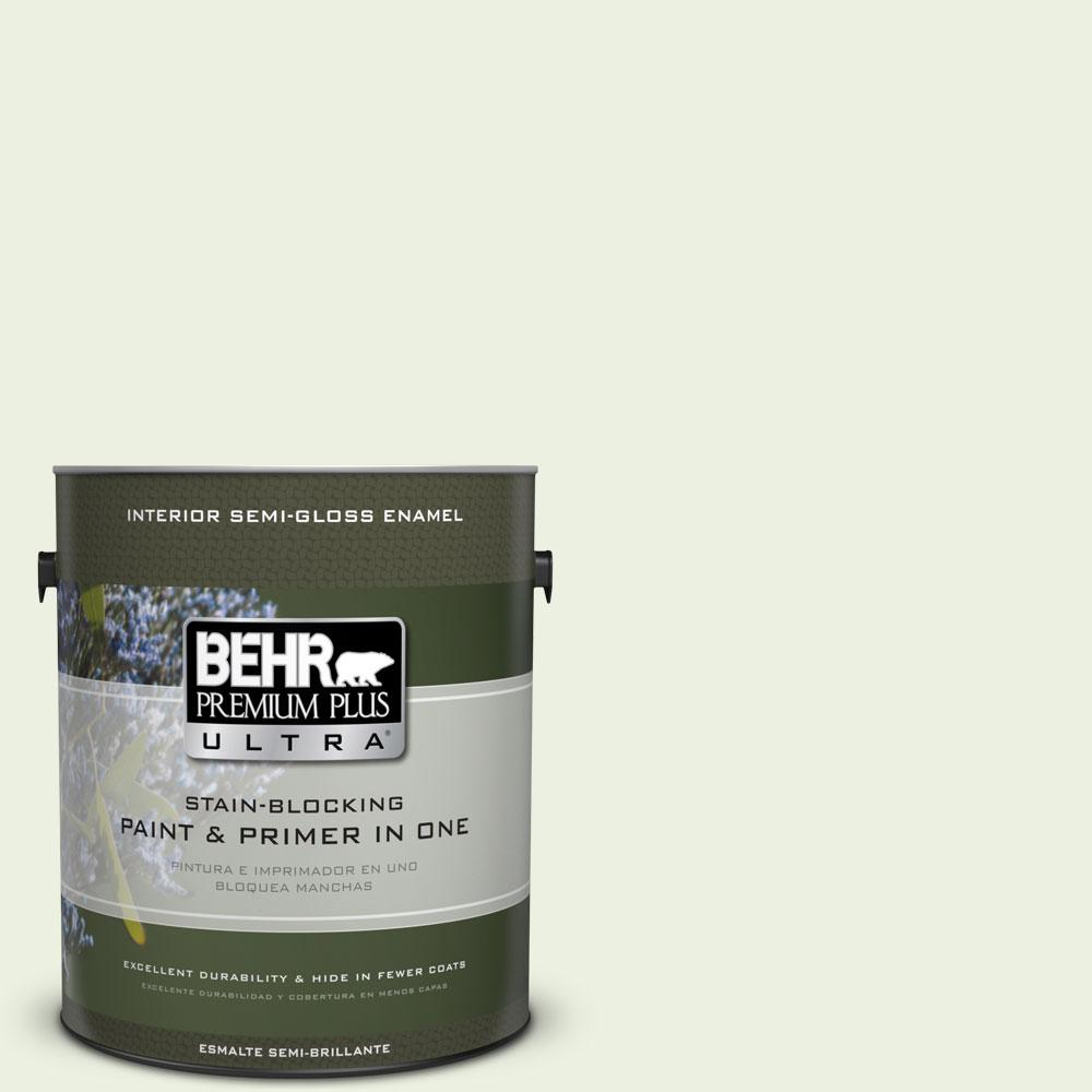 BEHR Premium Plus Ultra 1-gal. #M360-1 Glisten Green Semi-Gloss Enamel Interior Paint