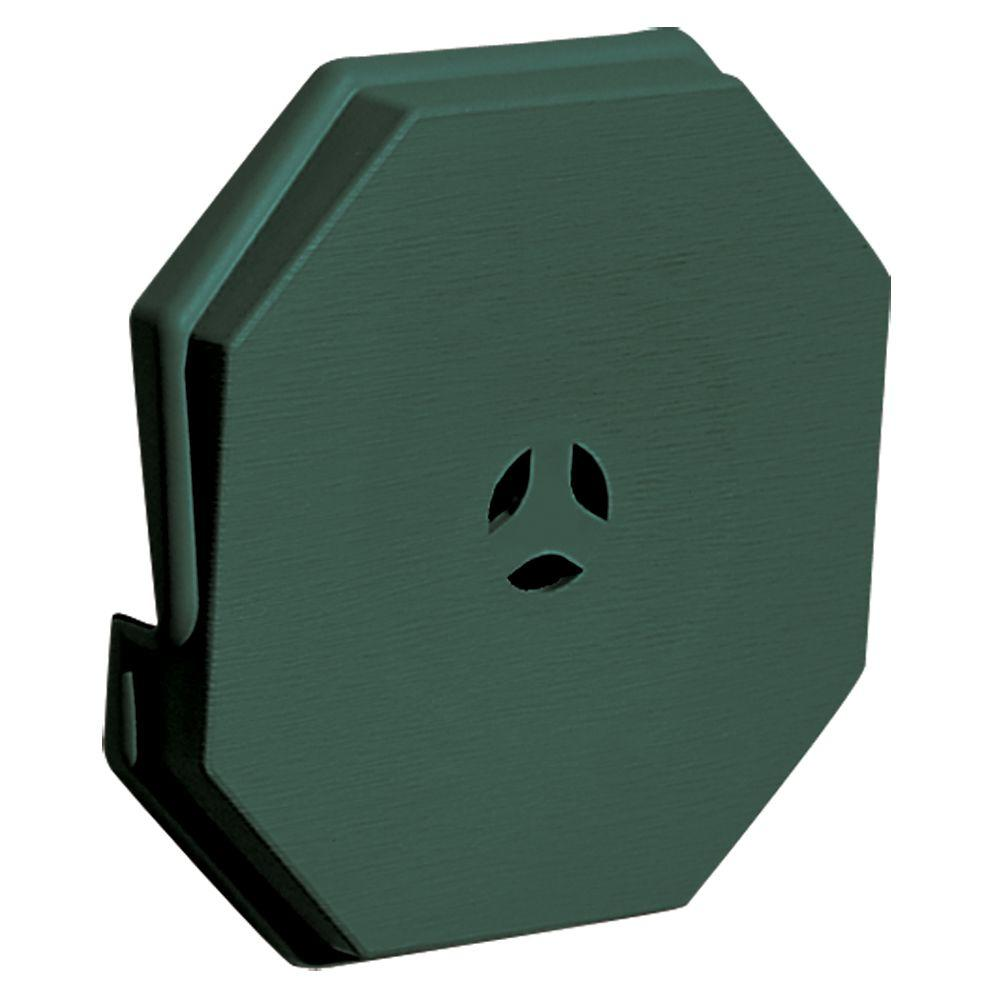 Builders Edge 6.625 in. x 6.625 in. #028 Forest Green Surface Mounting Block