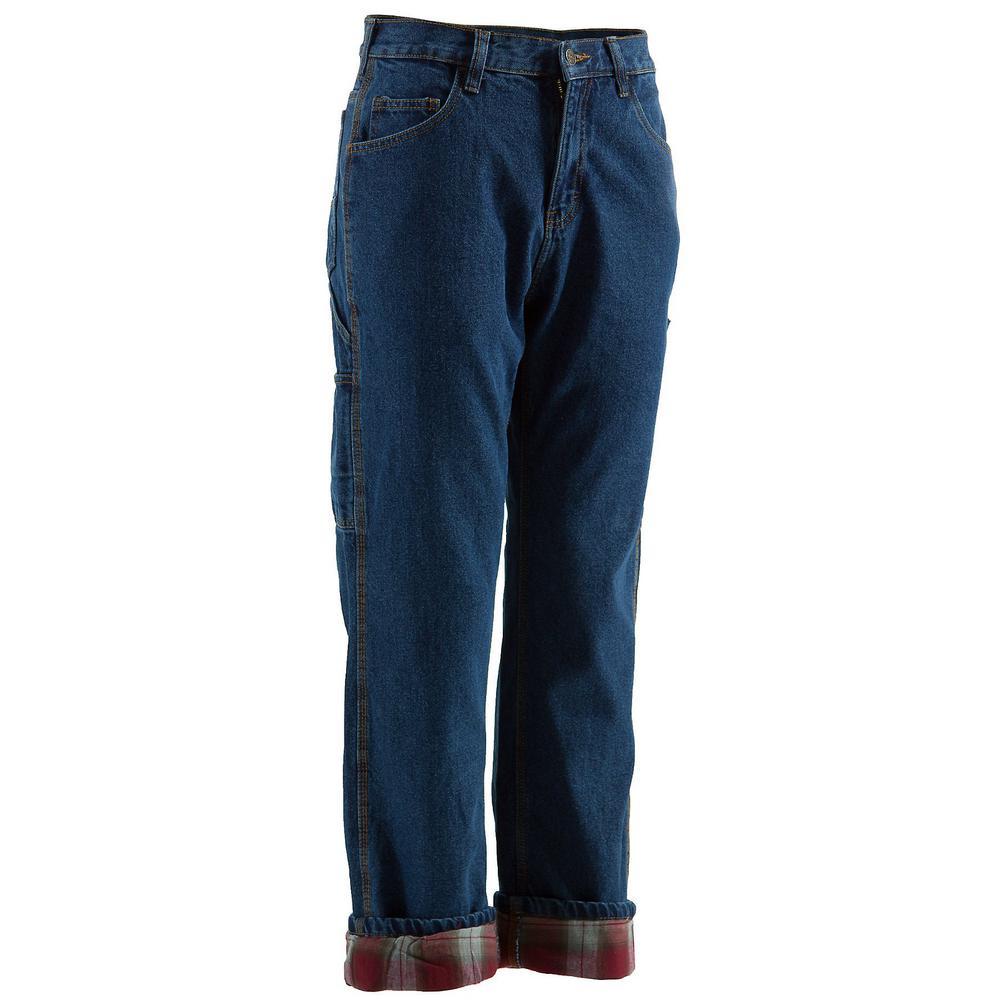 Men's 30 in. x 30 in. Stone Wash Dark Cotton Original Lined Dungaree Pants