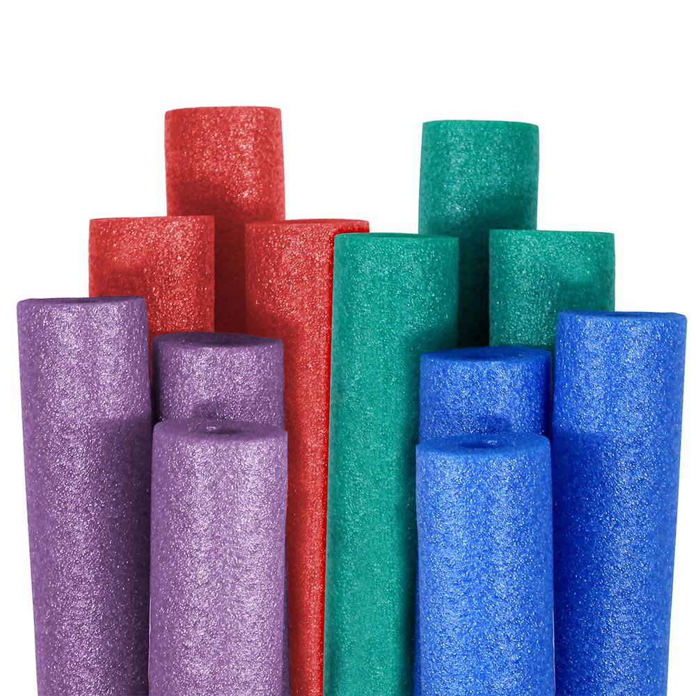 Robelle Big Boss Blue, Teal, Purple, and Red Round Pool Noodles (12 ...