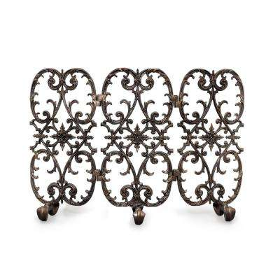 Siena Bronze 3-Panel 42 in. wide Fireplace Screen