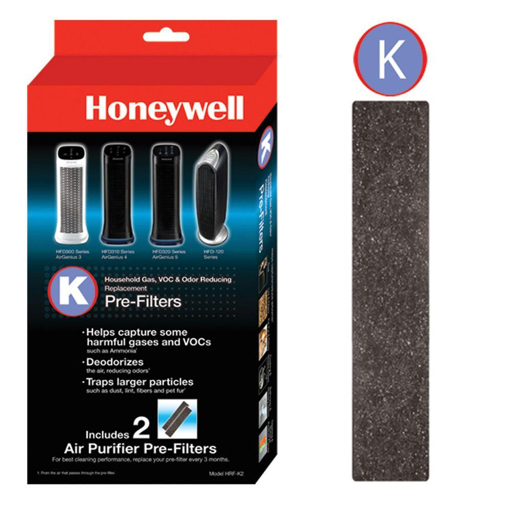 Honeywell Odor And Gas Reducing Pre Filter K 2 Pack