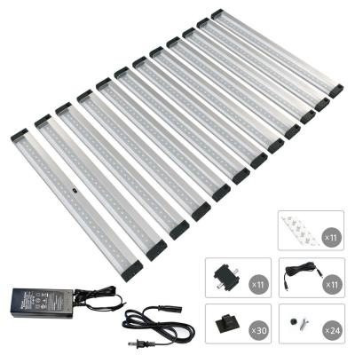 12 in. LED 6000K Black Under Cabinet Lighting, Dimmable Hand Wave Activated (12-Pack)