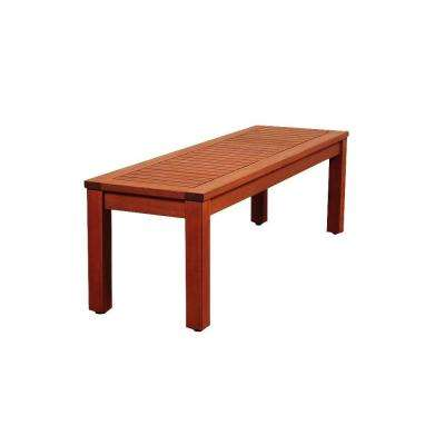 Cooper 53 in. Eucalyptus Backless Patio Bench