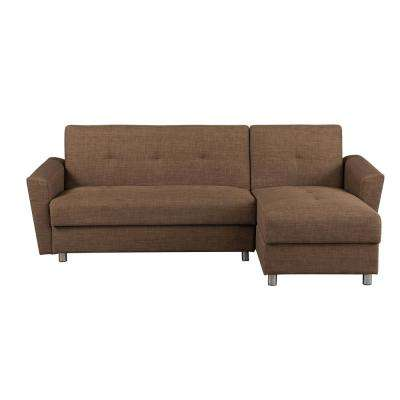 Medona Brown Sleeper Sofa