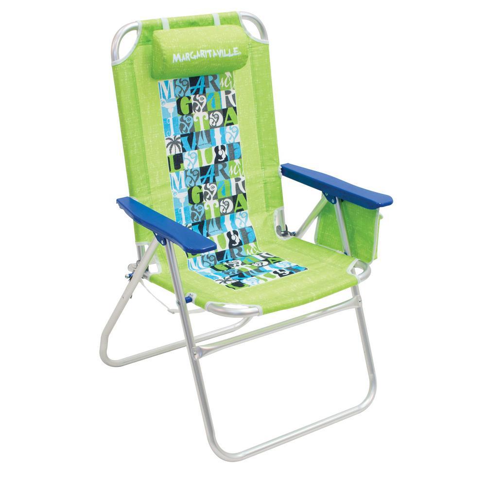 Lime Big Shot Aluminum Patio Lawn Chair