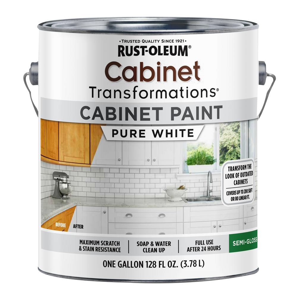 Rust-Oleum Transformations 1 gal. Pure White Cabinet Paint ...