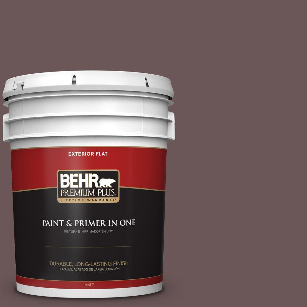 BEHR Premium Plus 5-gal. #N120-7 Grand Plum Flat Exterior Paint