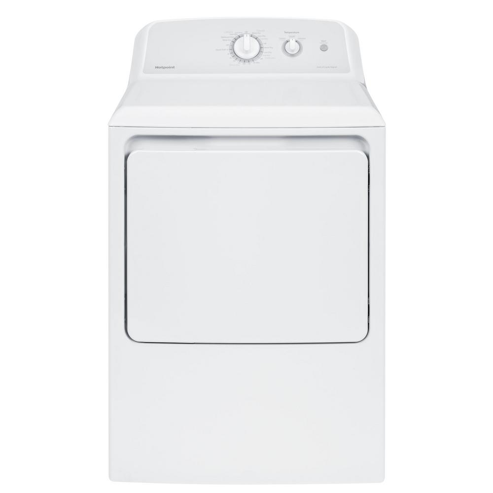 hotpoint 6 2 cu ft electric dryer in white htx21easkww. Black Bedroom Furniture Sets. Home Design Ideas