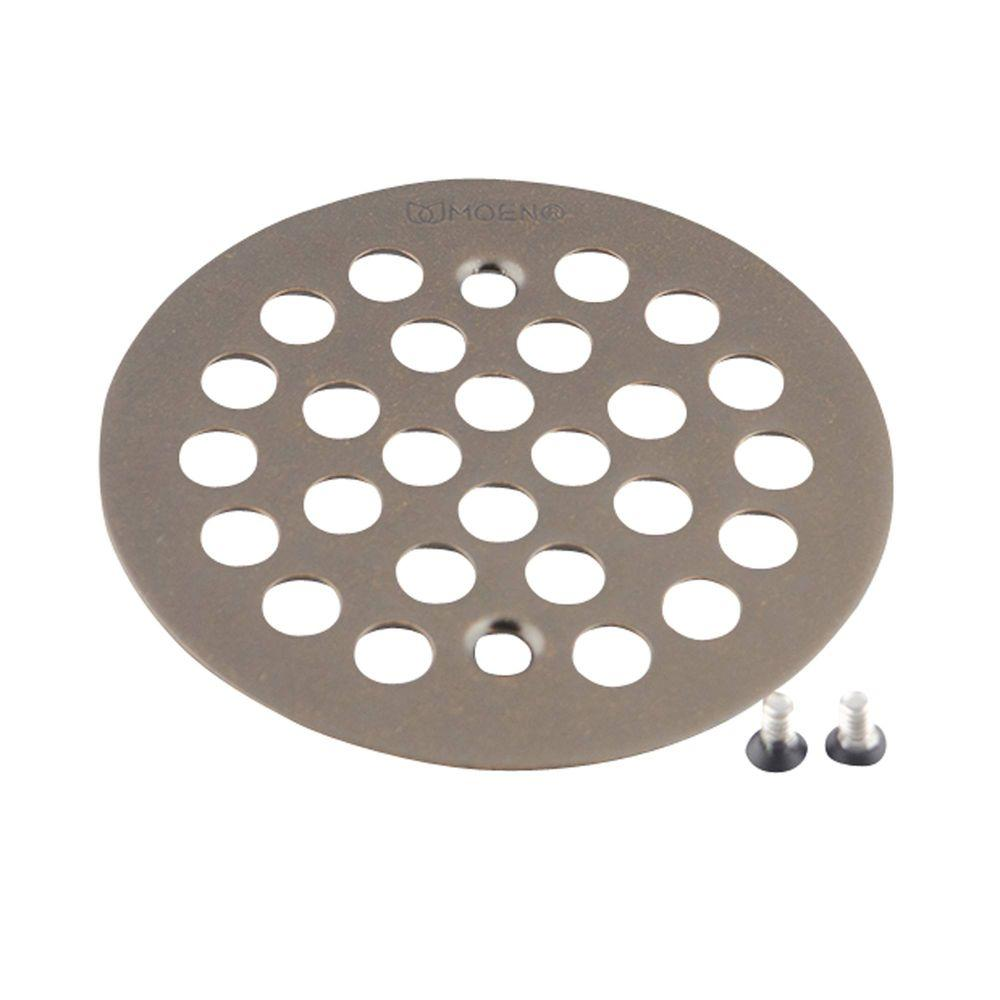 null 4-1/4 in. Tub and Shower Drain Cover for 2-5/8 in. Opening in Oil Rubbed Bronze