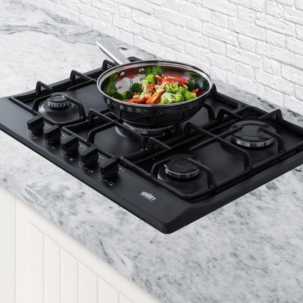 Summit GC5272B 5-Burner Gas Cooktop in Matte Black Finish