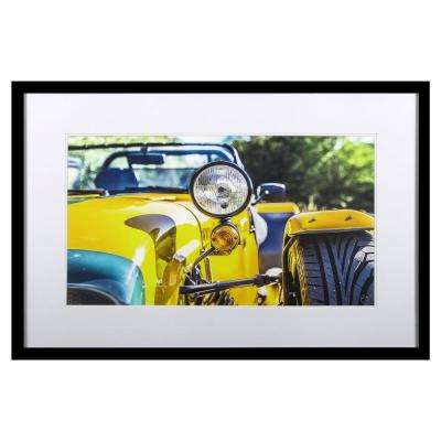 "34 in. x 36 in. ""Yellow Style"" by ""Brian Peregrina"" Printed Framed Wall Art"