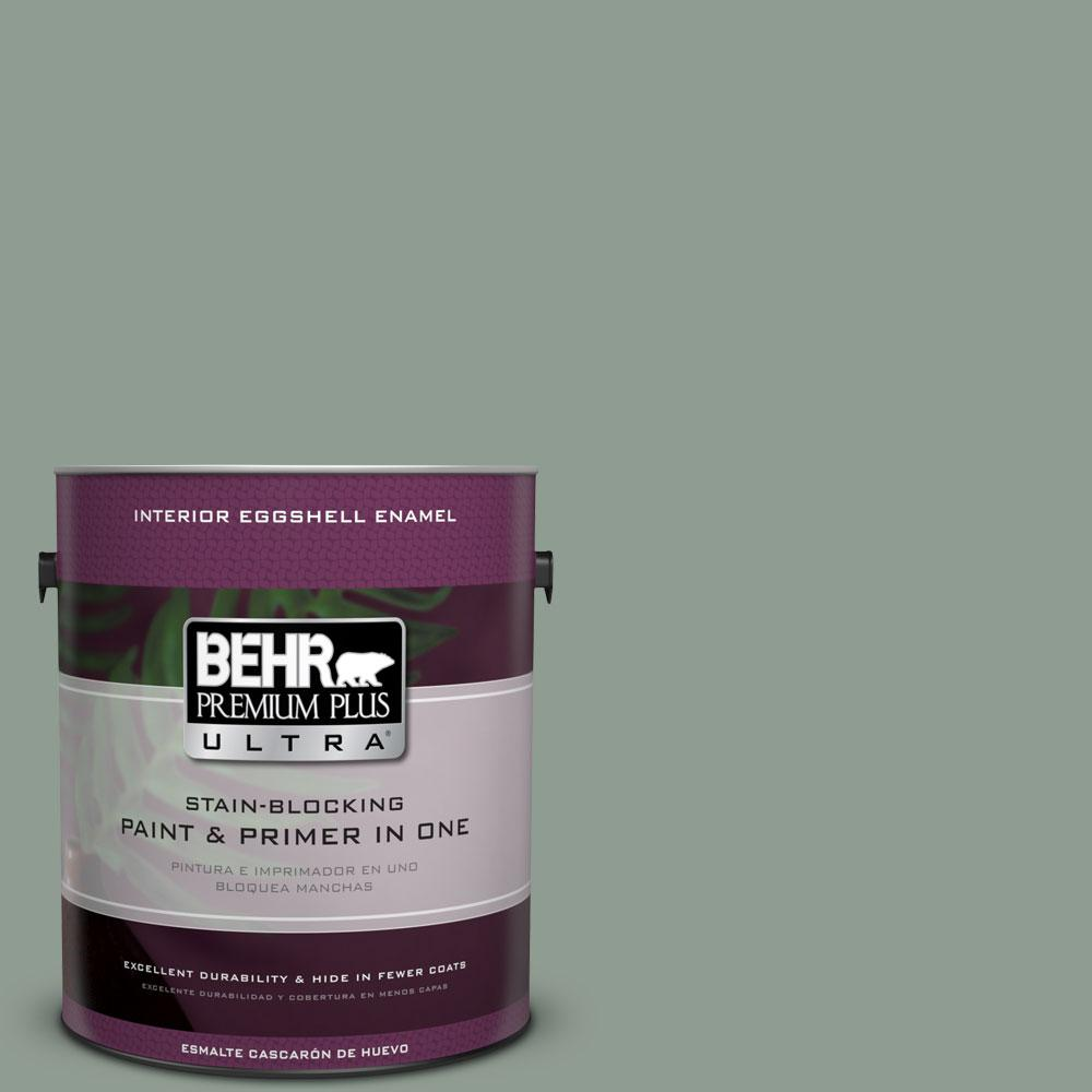 BEHR Premium Plus Ultra 1-gal. #ICC-104 Balsam Fir Eggshell Enamel Interior Paint