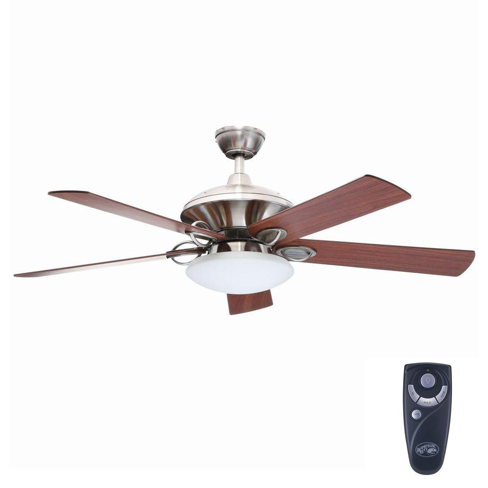 Sauterne II 52 in. Indoor Brushed Nickel Ceiling Fan with Light
