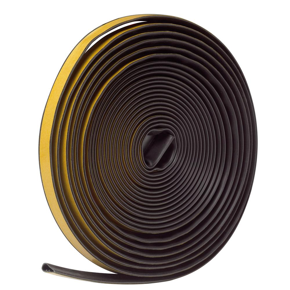 1/2 in. x 1/4 in. x 20 ft. Brown Silicone Self-Stick