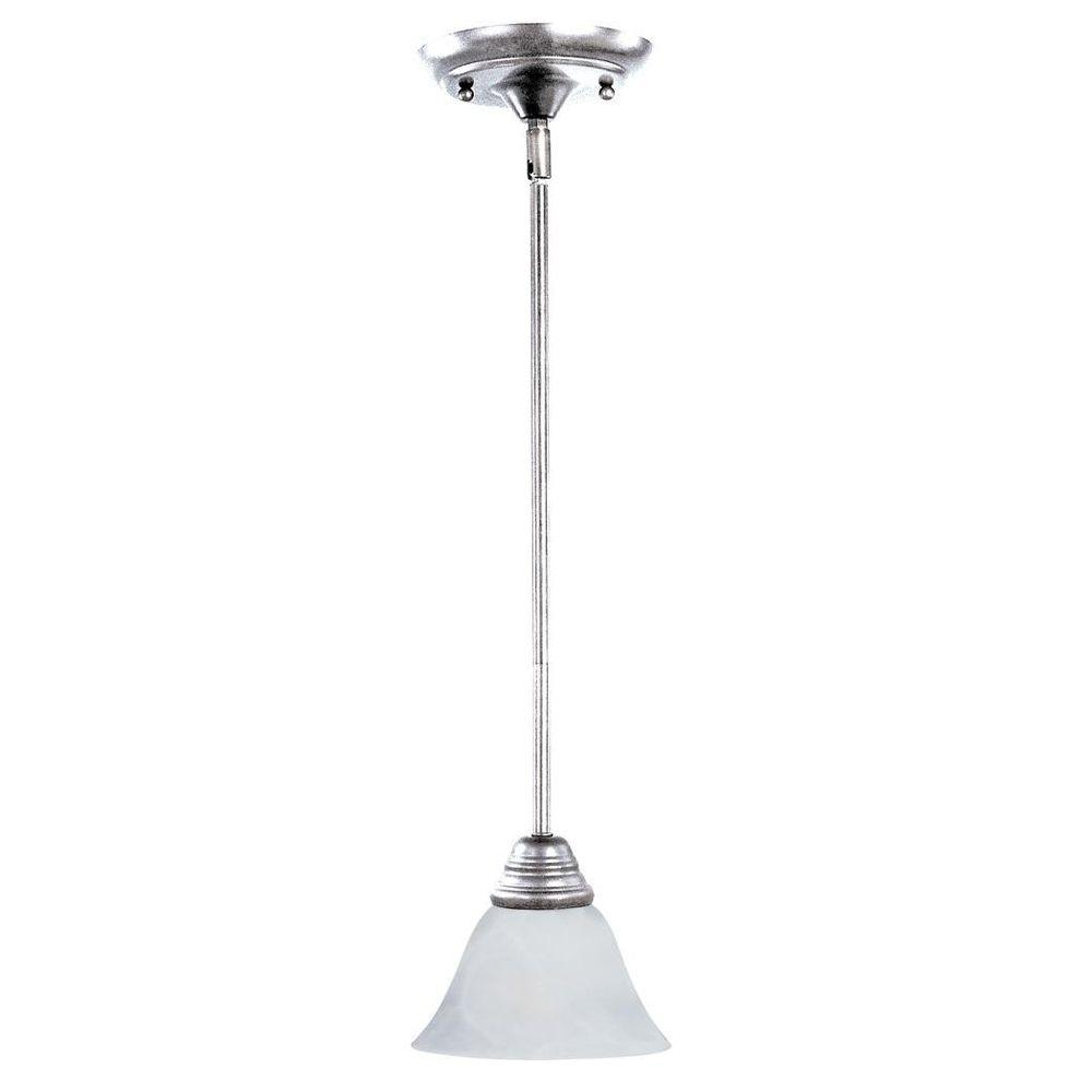 Maxim Lighting Basix 1-Light Satin Nickel Mini Pendant